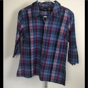 Chico's Basic Editions Small Multi Color Shirt